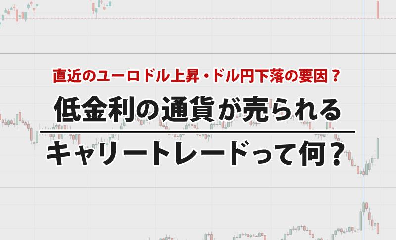 低金利通貨が売られるキャリートレードとは?