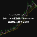 GMMAの基本的な見方とトレンド転換を見極めるコツ
