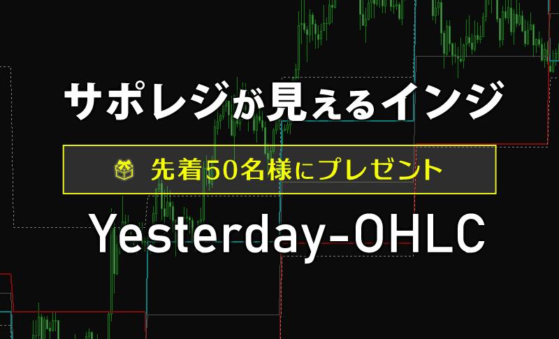 サポレジが見えるインジ「Yesterday-OHLC」