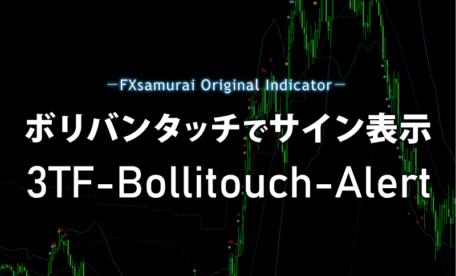 ボリバンタッチでサイン表示するインジケーター「3TF-Bollitouch-Alert」