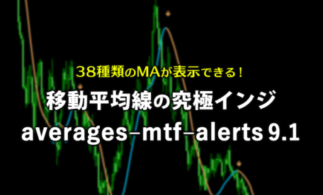 38種類のMAが表示できる移動平均線の究極インジケーターaverages–mtf–alerts 9.1