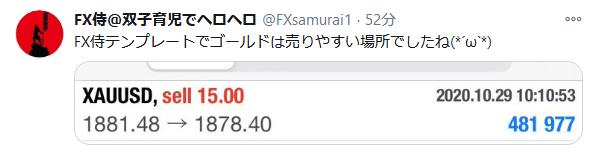 FX侍のツイート