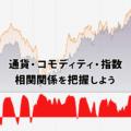 通貨ペア・コモディティ・指数の相関関係まとめ