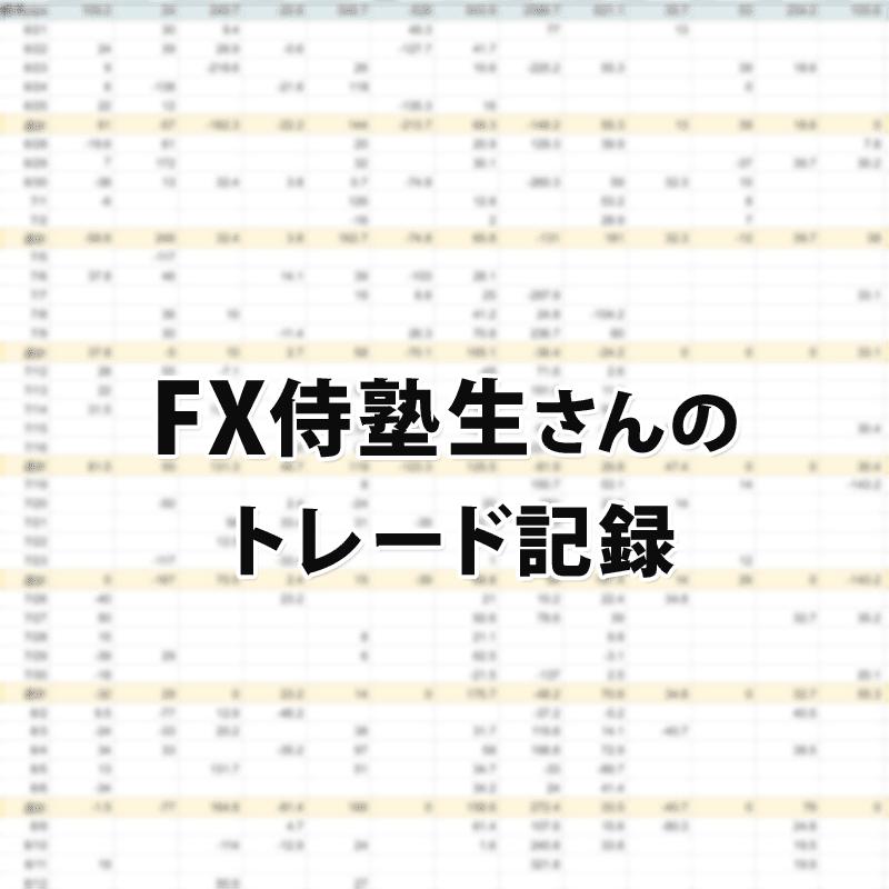 FX侍塾生さんのトレード記録をチラ見せ