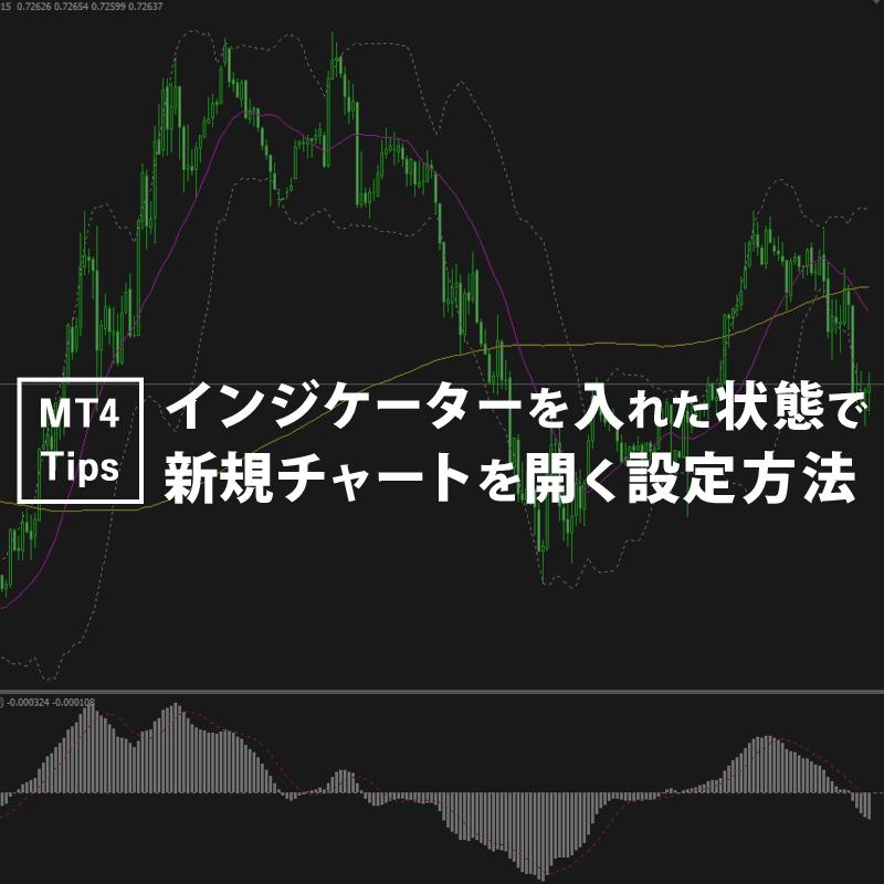 MT4の新規チャートをインジが入った状態で開く設定方法