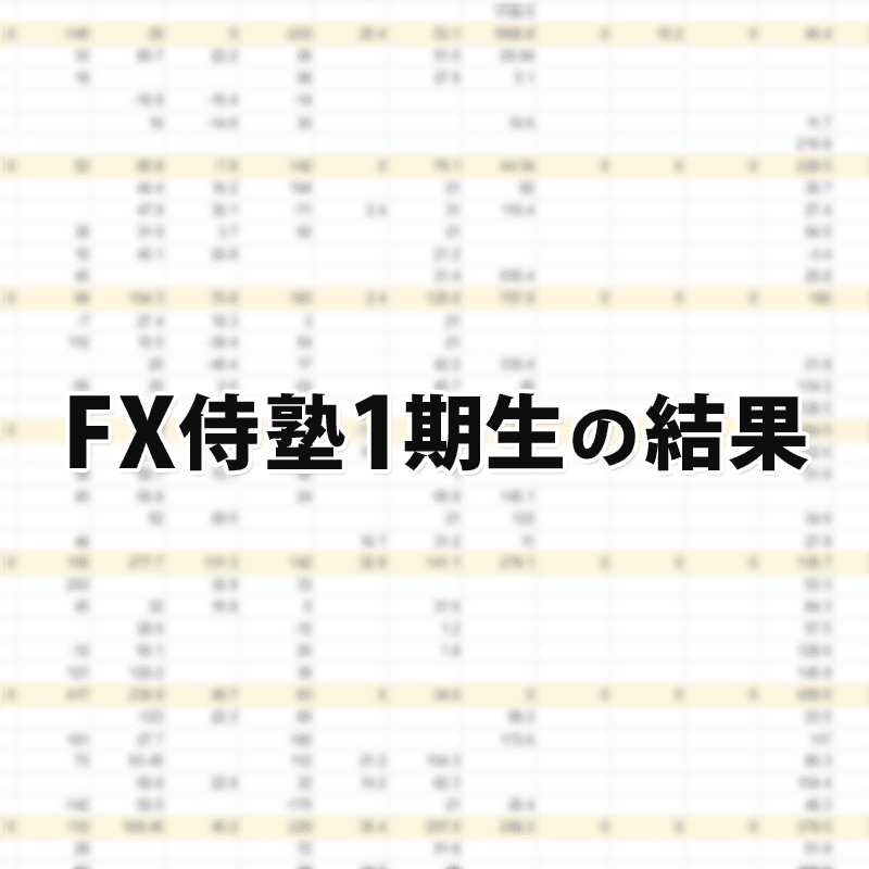 FX侍塾の1期生の結果
